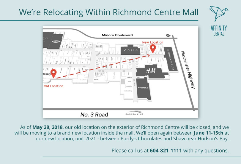Affinity Dental is Relocating within Richmond Centre