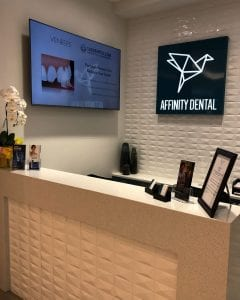 Reception at Affinity Dental Clinic in Richmond