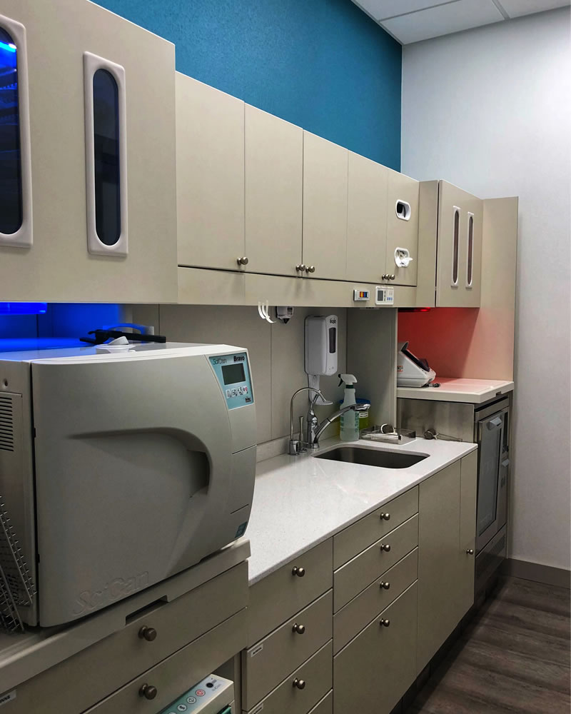 Sterilization Area at Affinity Dental Clinic in Richmond